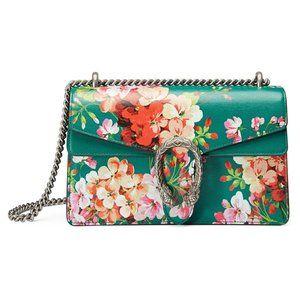 Gucci Large Dionysus Blooms Shoulder Bag  in Green
